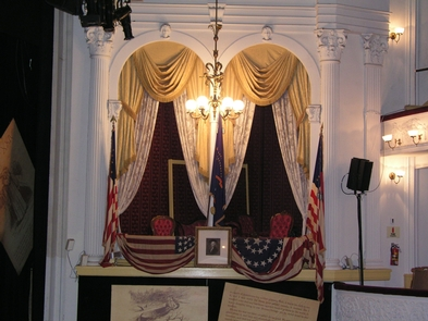 Ford's Theatre BoxWhere President Lincoln was shot