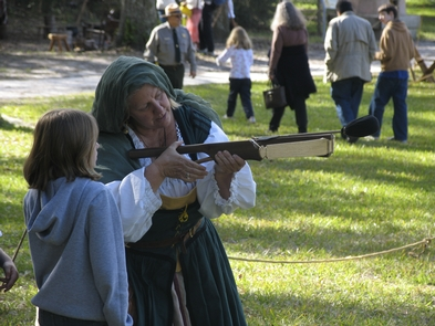Living HistoryLiving history demonstrations take place at the park on special occasions.