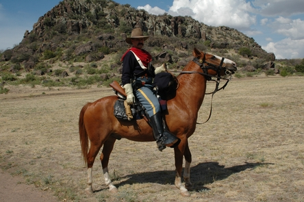 CavalryThe U.S. Cavalry was utilized at Fort Davis for most of its existence. Here a soldier shows off the uniform and equipment of the 1800s.