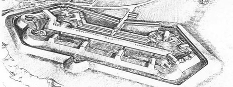 Drawing of Fort FooteDrawing of fort in 1865.