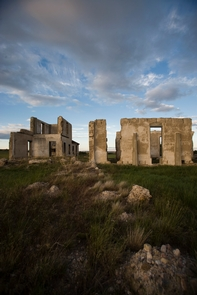 Ruins of the 1873 Post HospitalSunrises and sunsets are extraordinarily beautiful when set against the many historic structures the site.