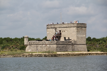 Fort MatanzasFort Matanzas sits on Rattlesnake Island in the middle of the Matanzas River.