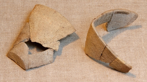 Crucible ArtifactShards unearthed here provide clues to the English expedition of 1585