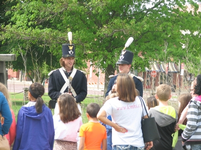 On Guard DutyHigh school students interpreting guard duty to elementary students.