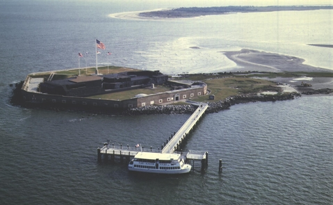 Fort SumterFort Sumter is located on an island in Charleston Harbor and is only accessible by boat.
