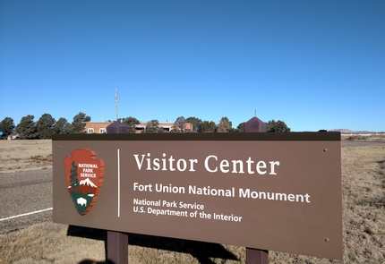 """Fort Union NM Visitor CenterCompleted in 1960, the Visitor Center at Fort Union was one of the first built during the """"MIssion 66"""" program for the National Park Service. It was designed by the internationally known architect Cecil Doty."""