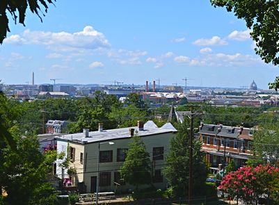 View of Washington, D.C.Frederick Douglass's view from Cedar Hill continues to impress visitors today.