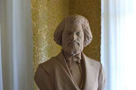 Bust of Frederick DouglassHundreds of original objects, such as this bust, furnish the historic house.