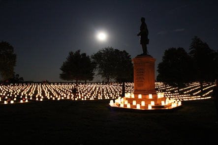 Fredericksburg National CemeteryThousands of visitors join us every year for our Memorial Day Illumination of the National Cemetery