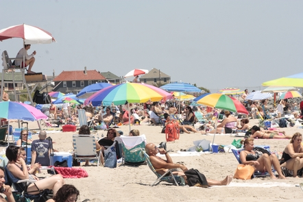 Enjoying a summer's day at Jacob Riis ParkMillions of visitors visit Gateway's beaches every summer.