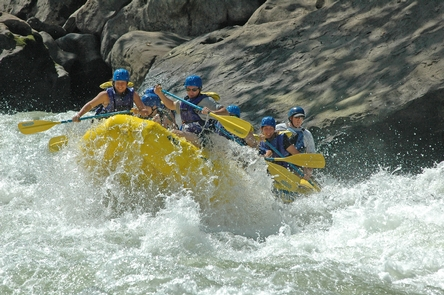 Smiling on the Gauley RiverGauley Season on the Gauley River is popular.