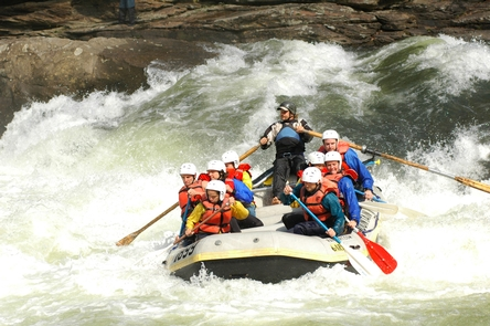 Guiding on the Gauley RiverWhitewater rafting is popular during Gauley Season
