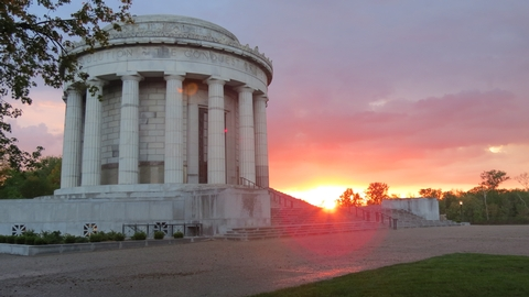 Clark Memorial at SunsetMany people enjoy watching the sun set behind the George Rogers Clark Memorial on the banks of the Wabash River