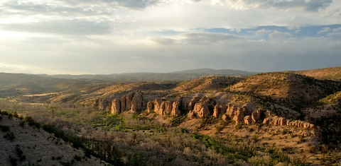 View of the Gila River Valley near Gila Cliff Dwellings NMThe Oldest Wilderness Area in the United States Awaits.