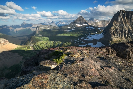 Logan Pass from Mt. OberlinView of Logan Pass and the Continental Divide from the summit of Mt. Oberlin