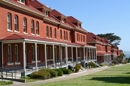 Montgomery Street Barracks, Presidio of San FranciscoThe Presidio offers an outdoor museum of military architecture over the centuries.