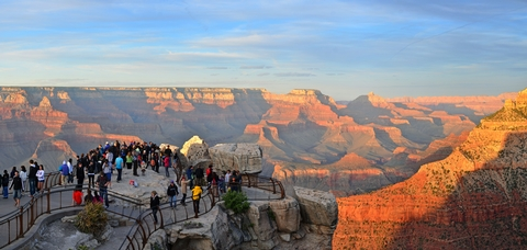 Grand Canyon Mather Point Sunset on the South RimPeople come from all over the world to view Grand Canyon's sunset