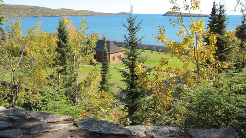 Mount Rose Trail overlooks Historic Depot & Grand Portage BayBeautiful scenary welcomes Fall visitors to Grand Portage.
