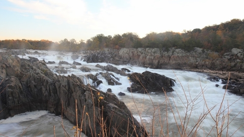 Great FallsThe Potomac River rushes down the Great Falls on the Virginia-Maryland border.