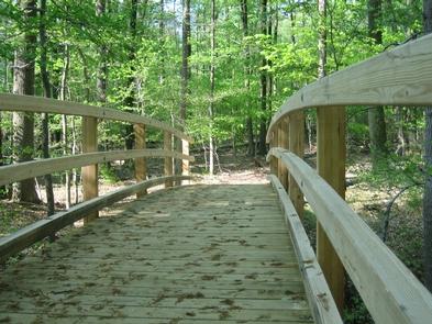 Perimeter Trail bridge in Greenbelt ParkEnjoy the beautiful trails of Greenbelt Park