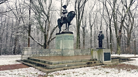 Nathanael Greene MonumentNathanael Greene Monument During Winter Snow