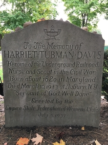 Tubman GraveTubman grave at Fort Hill Cemetery