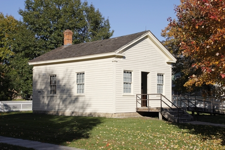 SchoolhouseMany rural Midwestern towns like West Branch placed a high value on education.