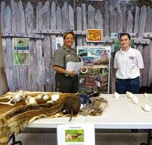 Park Ranger and Volunteer Prepared for Nature ProgramInterpretive Program