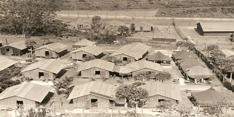 Honouliuli internee barracksThe American Internee barracks at Honouliuli Compound #5, circa 1945