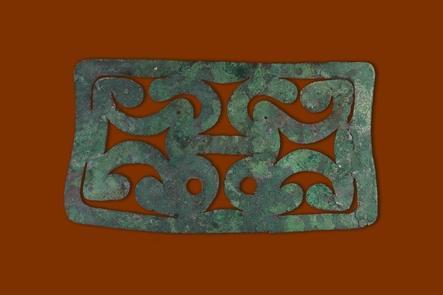 Copper BreastplateCopper breastplate cutout made by the Hopewell culture 2,000 years ago