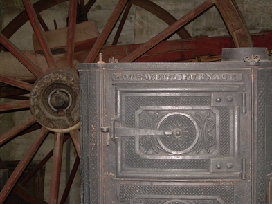 Hopewell StoveThe most notable manufactured product Hopewell Furnace made was its stoves.  They were produced by the thousands at Hopewell and other like furnaces in the early 19th century and were transported for sale by horse and wagon.