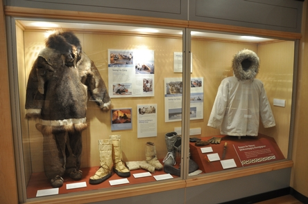 Clothing of the InupiaqTraditional clothing of the Inupiaq on exhibit at the Center