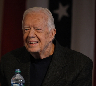 Jimmy Carter Presidents' Day 2016President Jimmy Carter speaking to the crowd at Plains High School for Presidents' Day 2016