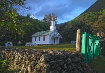Siloama Church at KalawaoSiloama Church was the first church established at Kalawao in 1866.  It is one of two remaining buildings at Kalawao today.