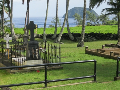 St. Damien's GraveSaint Damien is one of two Catholic saints at Kalaupapa who came to serve the Hansen's disease patients in the late 19th century.