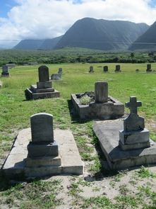 Papaloa CemeteryKalaupapa is the final resting place for approximately 8000 people. Papaloa Cemetery is the largest cemetery located along the west shoreline of the peninsula.