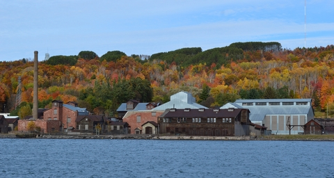 Quincy Mining Company SmelterThe Quincy Smelter is one of the best-preserved copper smelting facilities of its era.