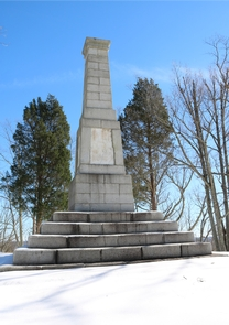 Centennial Monument in SnowCentennial Monument in the Snow