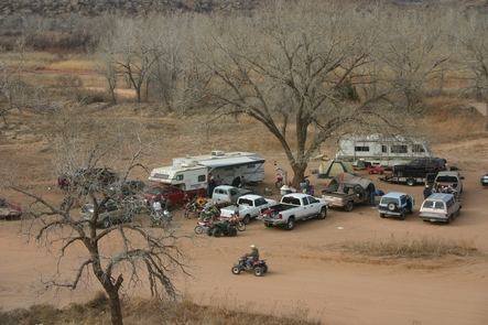 RositaA group camp along the Canadian River in the ORV area.