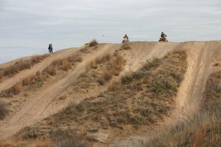 ORV track at RositaORV users play and camp at Rosita.