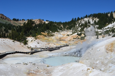 Bumpass HellA 3-mile round-trip trail leads to Bumpass Hell, the largest of the park's hydrothermal areas.