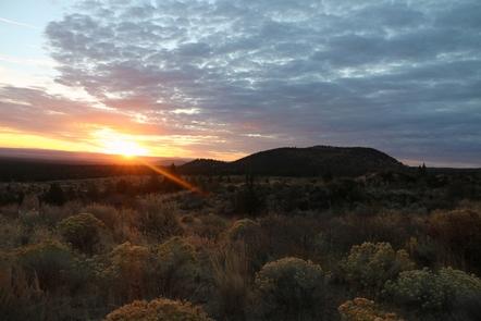 Sunrise at Lava Beds