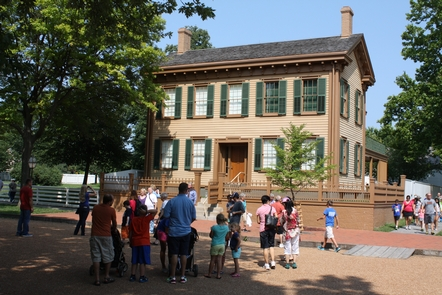 Lincoln HomeThousands of visitors tour Lincoln Home every year