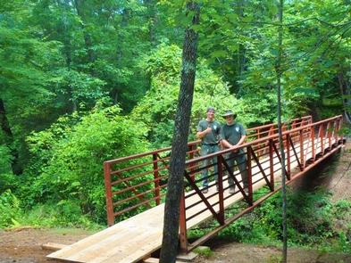 DeSoto Scout Trail BridgeTake a hike along the DeSoto Scout Trail
