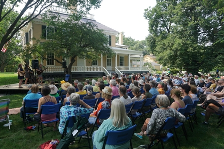 Summer Festival ConcertEach year is highlighted by the Summer Festival on the house's east lawn.