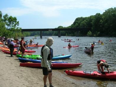 Delaware River SojournersSojourners enter the river at Martins Creek, PA