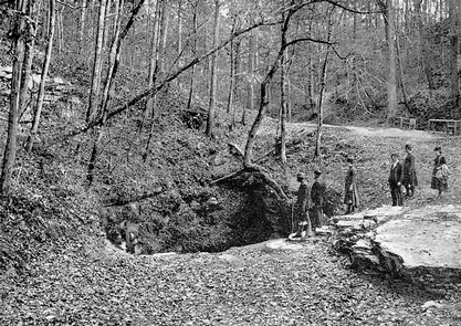 Frances Benjamin Johnston Enters Mammoth Cave in 1892Frances Benjamin Johnston and her photographic expedition enter the Historic Entrance of Mammoth Cave, 1892.