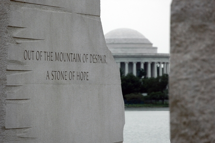 Stone of HopeA Stone of hope breaks free from the Mountain of Despair