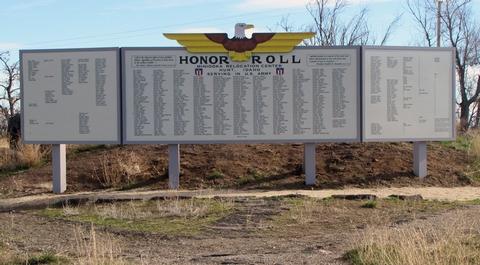 The Replicated Minidoka Honor RollThe replicated Minidoka Honor Roll is part of the history at Minidoka NHS.