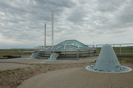 Delta-09 enclosureThe glass enclosure allows visitors to view a Minuteman II missile in the silo.